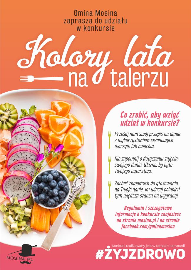 Plakat - żyj zdrowo